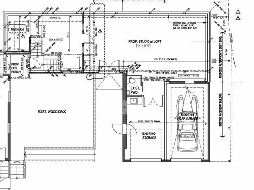 Studio Rental Space Floor Plan Drawing